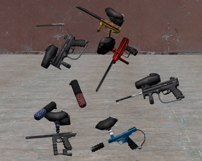 Paintball guns repacked