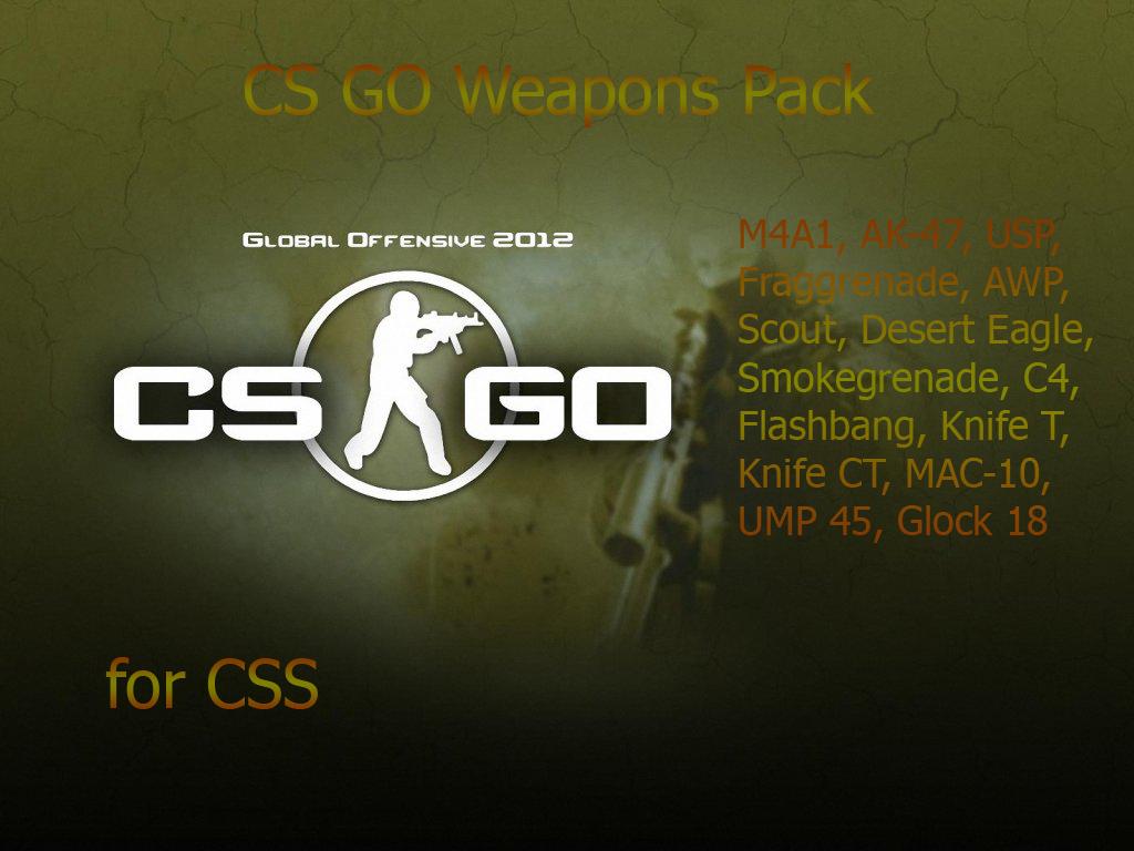 Пак моделей оружия из csgo для css