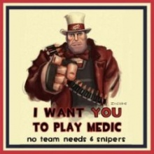 I Want You To Play Medic