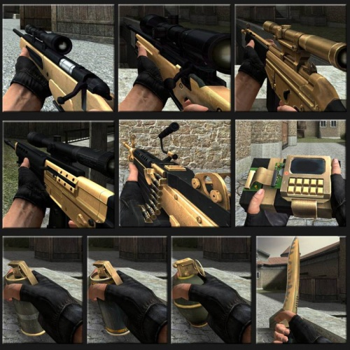 Gold Weapon Pack