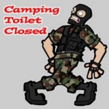 Camping Toilet Closed