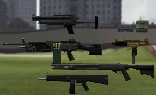 Episodes from liberty city weapons
