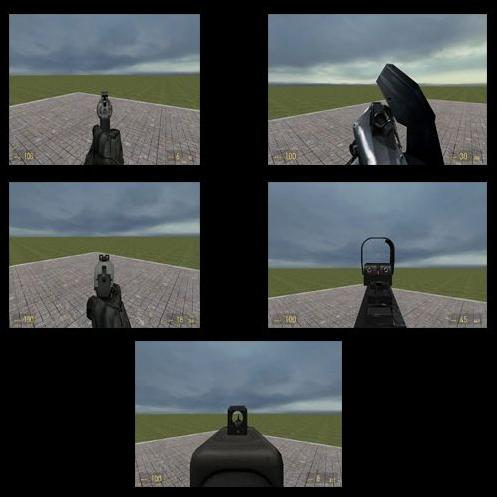 HL2 ironsight weapons