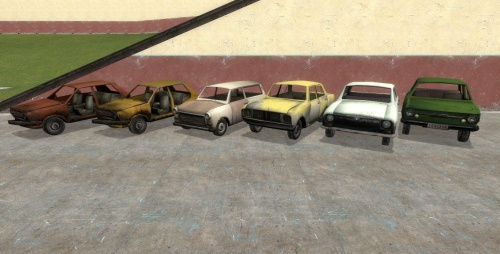 Half-Life 2 Driveable Vehicles